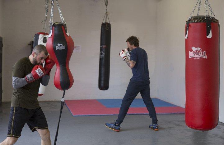 Boxing training gym