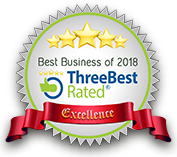 5 stars - ThreeBest rated: Best Business of 2018 - Excellence Award