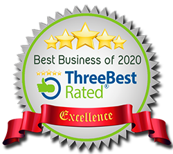 5 stars - ThreeBest rated: Best Business of 2019 - Excellence Award