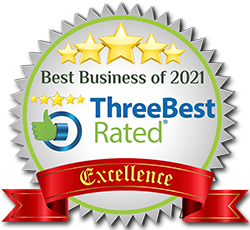 5 stars - ThreeBest rated: Best Business of 2021 - Excellence Award