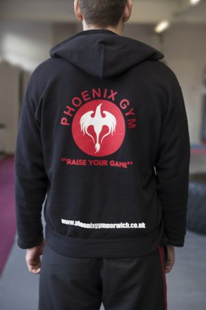 Phoenix Gym Branded Clothing available at reception.