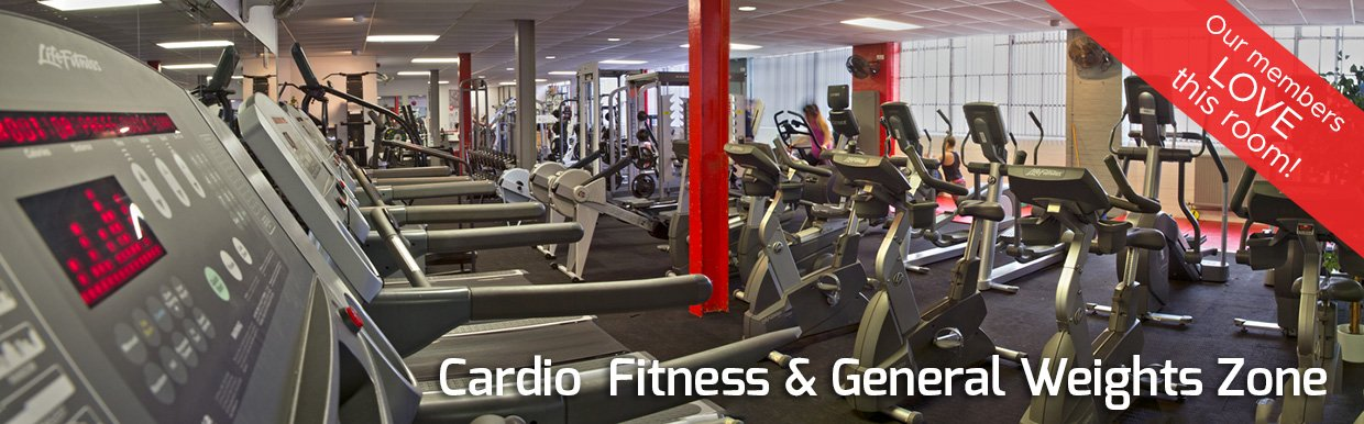 Cardio Fitness and General Weights Zone in the Gym.