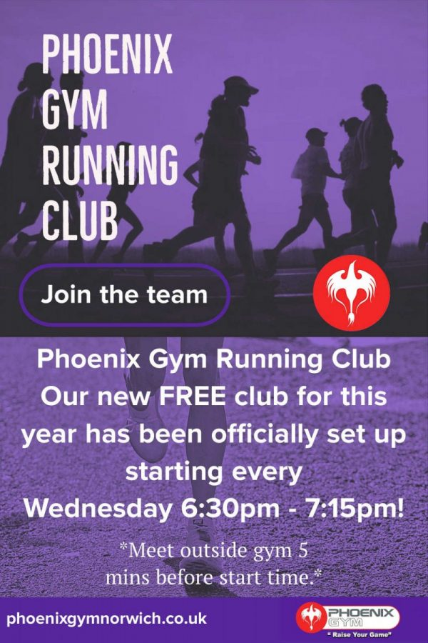 try phoenix gym running club for fitness in Norwich