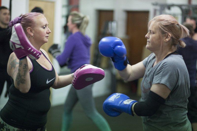 Women in Boxing Fitness class
