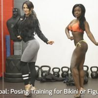 Your goal: competition posing training for bikini for figure class