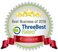 5 stars - ThreeBest rated : Best Business of 2018 - Excellence Award