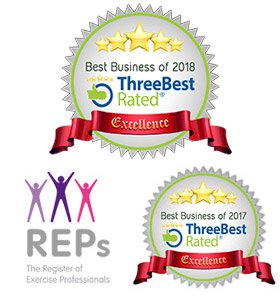 5 stars - ThreeBest rated: Best Business 2018 & 2017. REPS - The Register of Exercise Professionals