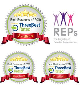 5 stars - ThreeBest rated: Best Business 2019, 2018 & 2017. REPS - The Register of Exercise Professionals