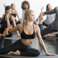 Picture of people in yoga class