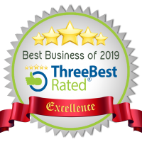 Five stars. Best Business of 2019 - Three Best Rated