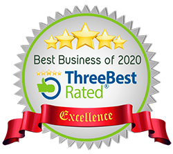 5 stars - ThreeBest rated : Best Business of 2020 - Excellence Award