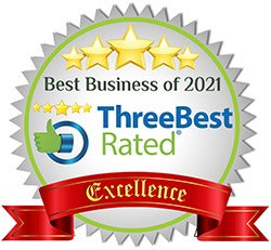 5 stars - ThreeBest rated : Best Business of 2021 - Excellence Award