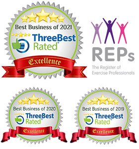 5 stars - ThreeBest rated: Best Business 2021, 2020 & 2019. REPS - The Register of Exercise Professionals